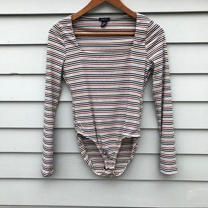Rue21 Striped Long-sleeve Onsie